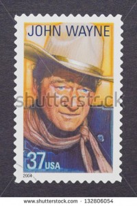 John Wayne postal stamp
