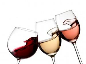 Red, White & Rose Glasses
