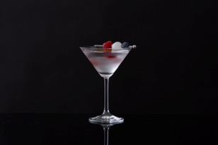 Red, White and True Martini