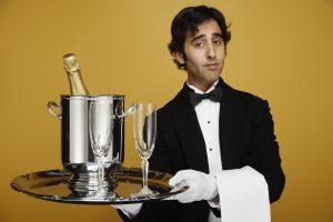 waiter - prosecco