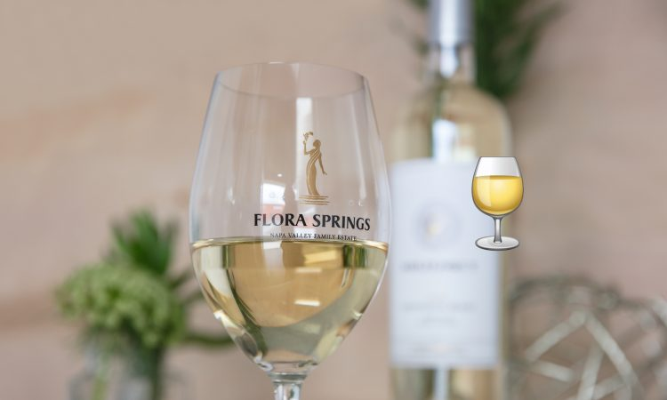 Flora Springs White Wine glass small emoji