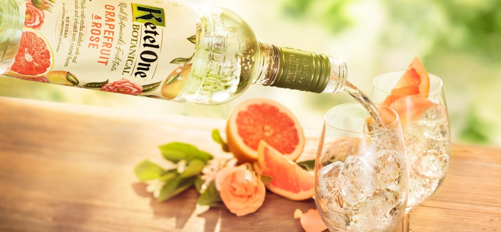 Ketel One Botanical & Soda Grapefruit & Rose