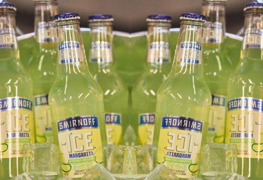 Smirnoff Margarita ICE bottles