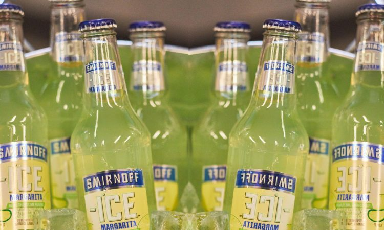 Smirnoff Margarita ICE bottles