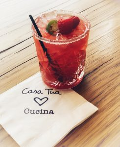Raspberry Jalapeno Spicy Margarita at Casa Tua Cucina Saks Brickell City Centre