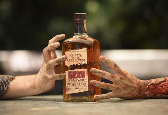 The Walking Dead Whiskey Bottle at Comic Con