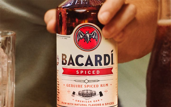 Bacardi Spiced Rum Bottle Feature