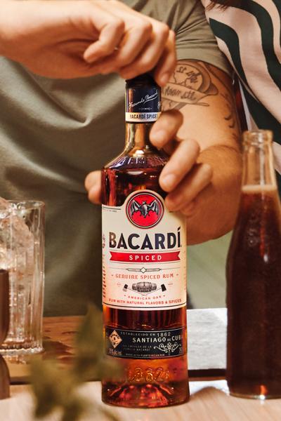 Bacardi Spiced Rum Bottle