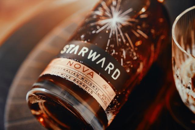 Starward Nova bottle on side