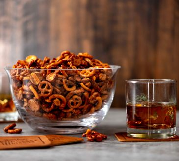 Glazed Whiskey Party Mix
