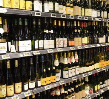 wine retail shelves